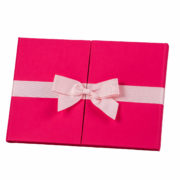 14x10 Digital Ribbons Rubberlicious Pink With Baby Pink Bow